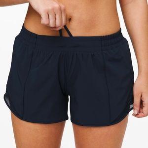 "Lululemon Hotty Hot LR 4"" Shorts True Navy"